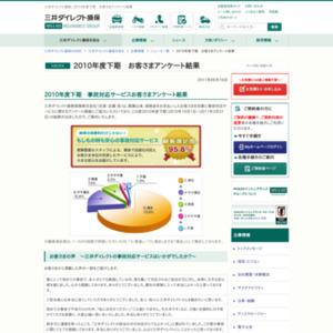 三井ダイレクト損保 2010年度下期 お客さまアンケート結果