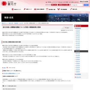訪日外国人消費動向調査(10-12月期)の調査結果の発表