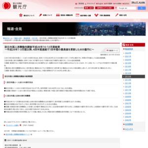 訪日外国人消費動向調査平成26年10-12月期結果