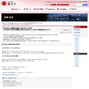 訪日外国人消費動向調査 平成26年7-9月期