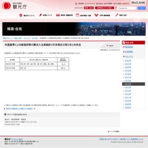 共通基準による都道府県の観光入込客統計2015年2月末現在の取りまとめ状況