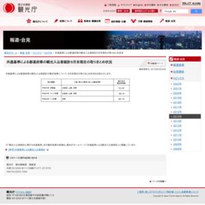 共通基準による都道府県の観光入込客統計6月末現在の取りまとめ状況