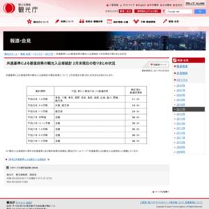 共通基準による都道府県の観光入込客統計 2月末現在の取りまとめ状況