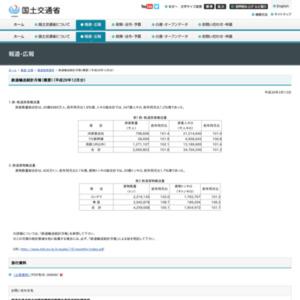 鉄道輸送統計月報(概要)(平成29年12月分)