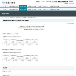 年末年始における一般国道の交通状況(速報)【全国版】