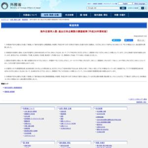 海外在留邦人数・進出日系企業数の調査結果(平成26年要約版)