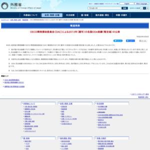 2013年(暦年)の各国ODA実績(暫定値)