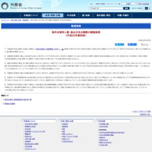 海外在留邦人数・進出日系企業数の調査(平成28年要約版)