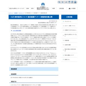 たばこ陳列販売について国民意識アンケート調査
