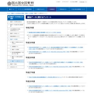国立国会図書館書誌データ利活用に関するアンケート