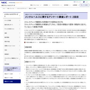 メンタルヘルスに関するアンケート調査レポート