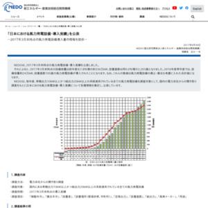 日本における風力発電設備・導入実績