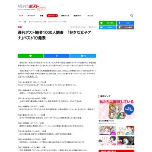 週刊ボスト読者1000人調査 「好きな女子アナ」ベスト10
