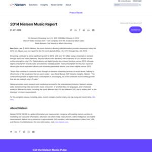 2014 Nielsen Music Report