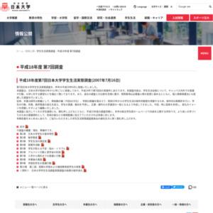 平成18年度第7回日本大学学生生活実態調査(2007年7月16日)