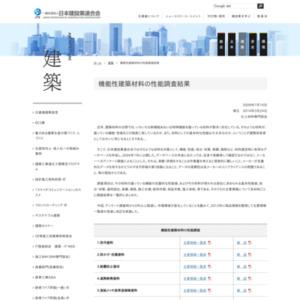 機能性建築材料の性能調査