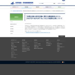 民間企業の研究活動に関する調査報告2012