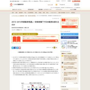 2013・2014年度経済見通し~安倍政権下で日本経済は変わるのか