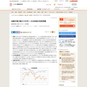 金融市場の動き(5月号)~日米株価の格差問題