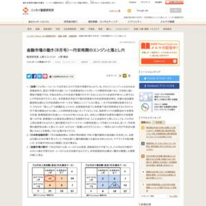 金融市場の動き(2014年8月号)~円安再開のエンジンと落とし穴