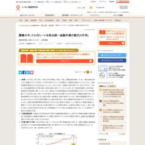 膠着の今、ドル円レートを再点検~金融市場の動き(4月号)