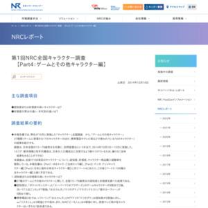 NRC全国キャラクター調査【Part4:ゲームとその他キャラクター編】
