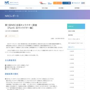 NRC全国キャラクター調査【Part5:全キャラクター編】