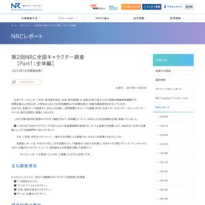 第2回NRC全国キャラクター調査【Part1:全体編】