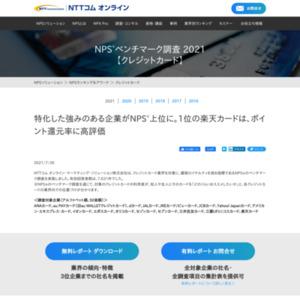 NPSベンチマーク調査【クレジットカード】