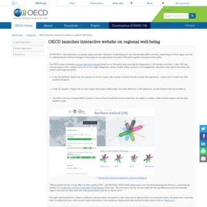 OECD launches interactive website on regional well-being