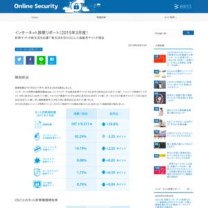インターネット詐欺リポート(2015年3月度)