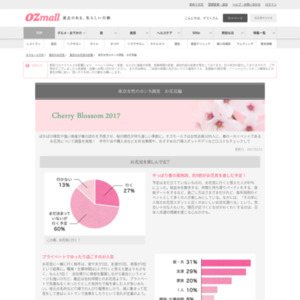 OZmall 東京女性のホンネ調査 お花見編