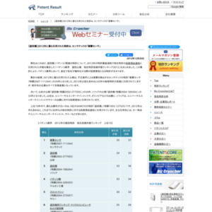 パチンコ業界 2012年に最も引用された特許はセンサテックの「衝撃センサ」