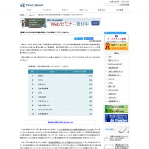【窯業業界】2012年の被引用特許件数トップ3は旭硝子、TOTO、日本ガイシ