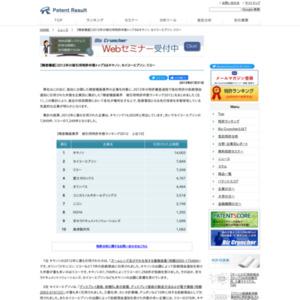 【精密機器業界】2012年の被引用特許件数トップ3はキヤノン、セイコーエプソン、リコー