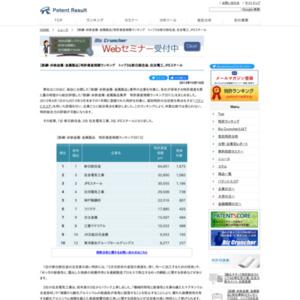 【鉄鋼・非鉄金属】特許資産規模ランキング、トップ3は新日鉄住金、住友電工、JFEスチール