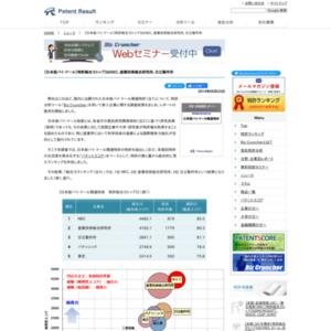 日本版バイ・ドール関連特許 特許総合力ランキングトップ3はNEC、産業技術総合研究所、日立製作所