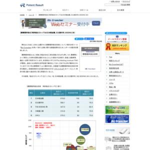 摩擦撹拌接合技術、特許総合力トップ3は日本軽金属、日立製作所、米・BOEING