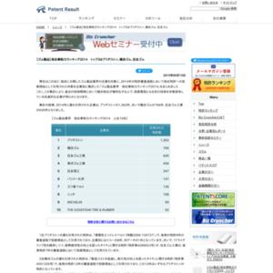 【ゴム製品業界】他社牽制力ランキング2014トップ3はブリヂストン、横浜ゴム、住友ゴム工業