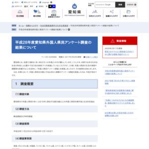 平成28年度愛知県外国人県民アンケート調査