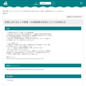 本県におけるエイズ患者・HIV感染者の状況
