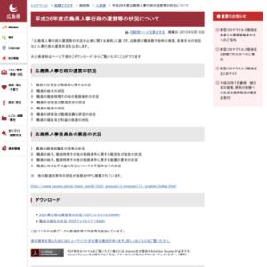 平成26年度広島県人事行政の運営等の状況