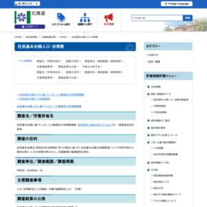 北海道住民基本台帳人口移動報告(平成27年1~3月分)
