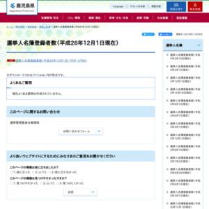 選挙人名簿登録者数(平成26年12月1日現在)