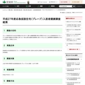 平成27年度応急仮設住宅(プレハブ)入居者健康調査