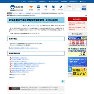 新潟県賃金労働時間等実態調査結果(平成26年度)