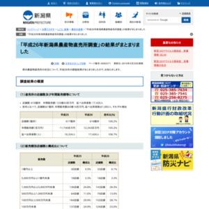 平成26年新潟県農産物直売所調査