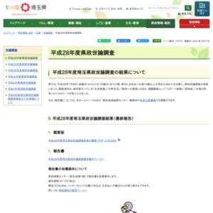 平成28年度埼玉県政世論調査(中間報告・速報)