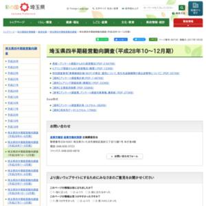 埼玉県四半期経営動向調査(平成28年10~12月期)