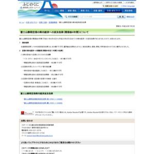 富士山静岡空港の県内経済への波及効果(開港後4年間)について